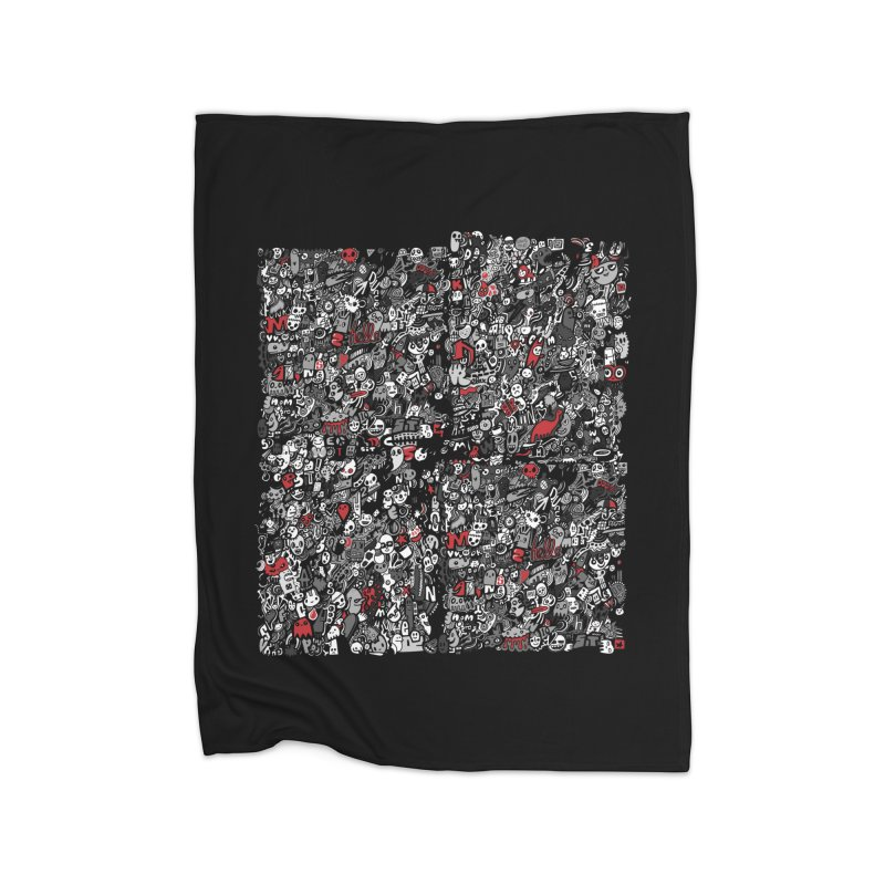 All of the Things Home Fleece Blanket Blanket by wotto's Artist Shop