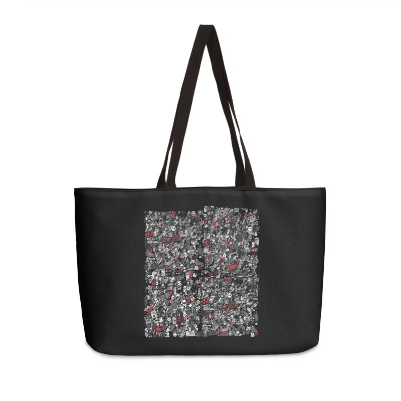 All of the Things Accessories Weekender Bag Bag by wotto's Artist Shop