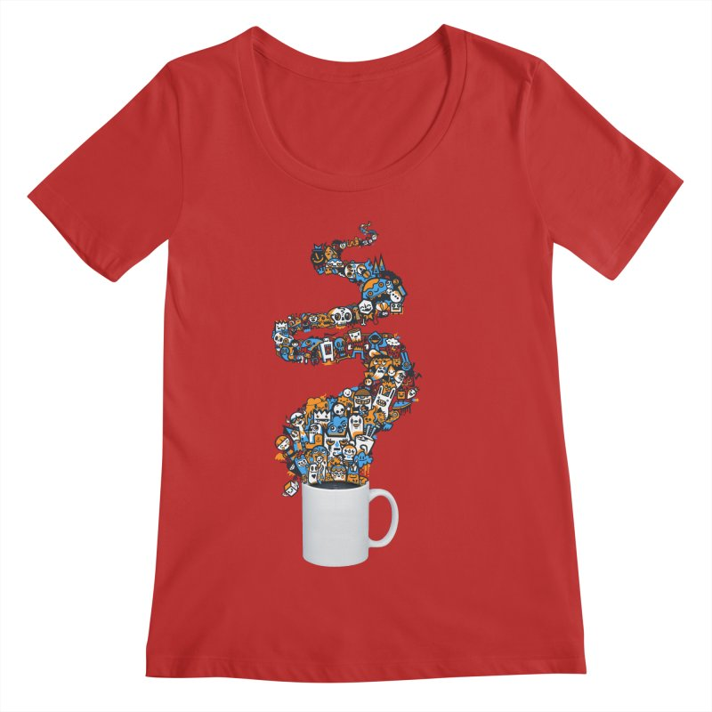 Wakey Wakey Women's Regular Scoop Neck by wotto's Artist Shop