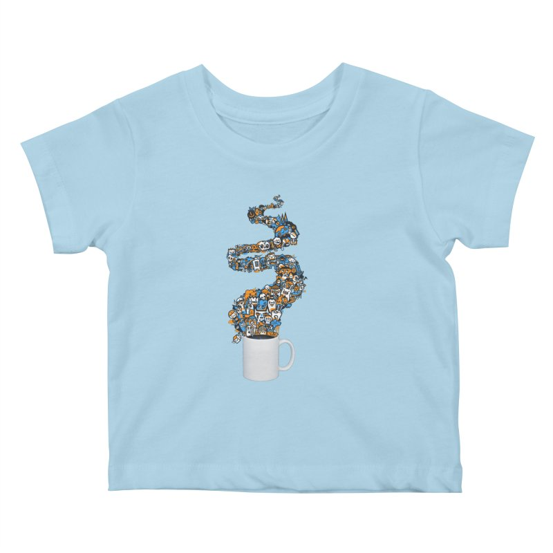 Wakey Wakey Kids Baby T-Shirt by wotto's Artist Shop