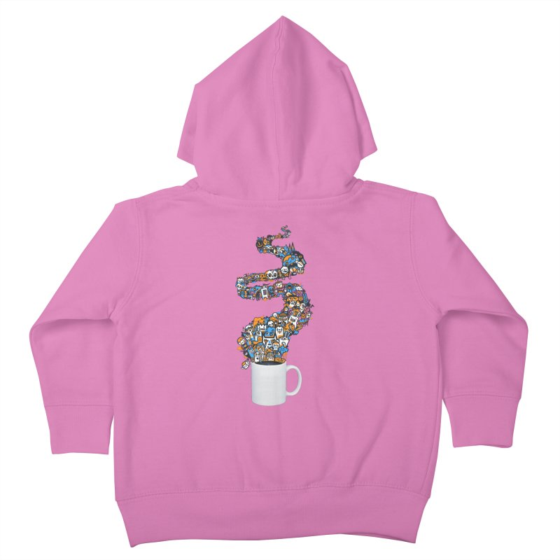 Wakey Wakey Kids Toddler Zip-Up Hoody by wotto's Artist Shop
