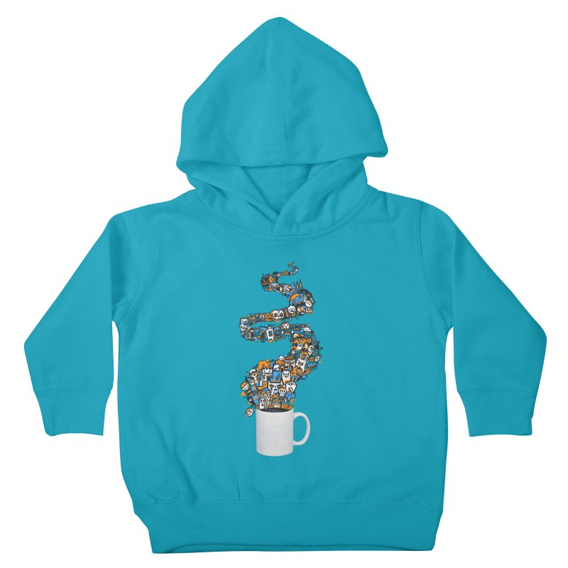 Wakey Wakey Kids Toddler Pullover Hoody by wotto's Artist Shop
