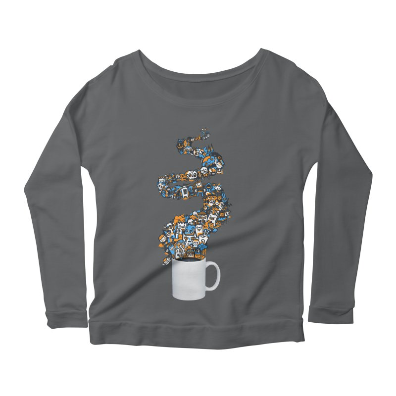 Wakey Wakey Women's Scoop Neck Longsleeve T-Shirt by wotto's Artist Shop