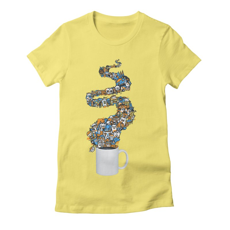 Wakey Wakey Women's Fitted T-Shirt by wotto's Artist Shop