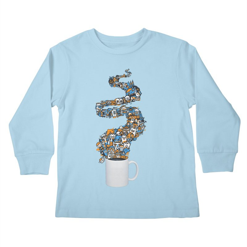 Wakey Wakey Kids Longsleeve T-Shirt by wotto's Artist Shop
