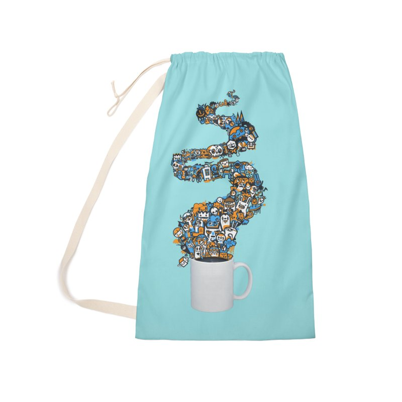 Wakey Wakey Accessories Laundry Bag Bag by wotto's Artist Shop