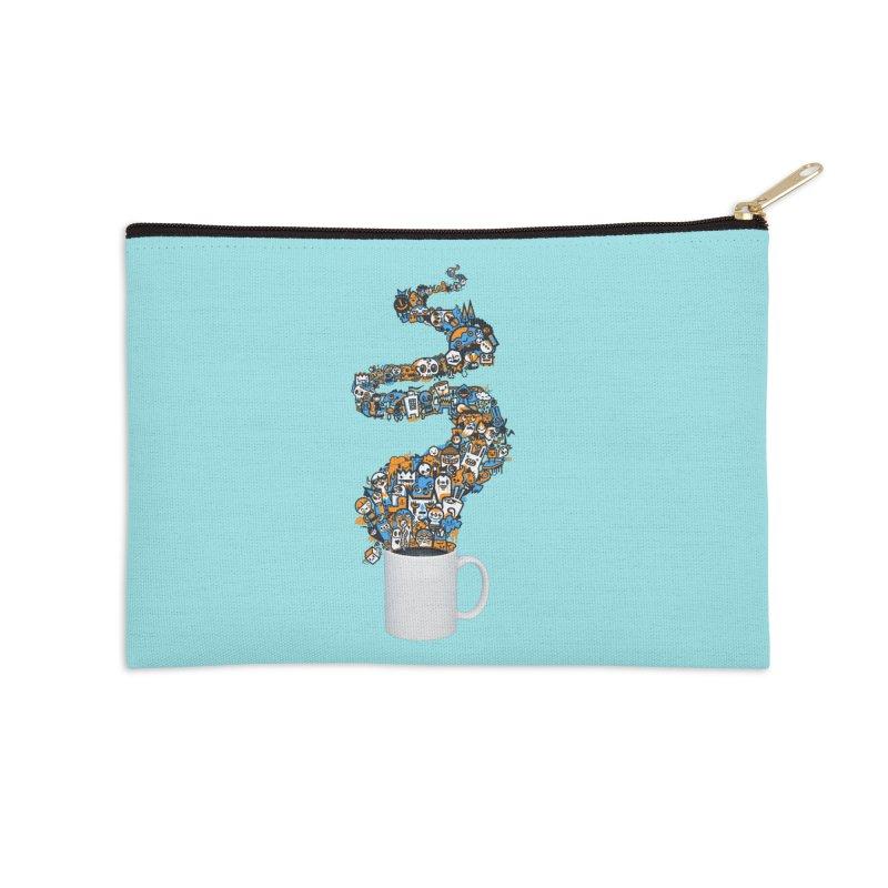 Wakey Wakey Accessories Zip Pouch by wotto's Artist Shop