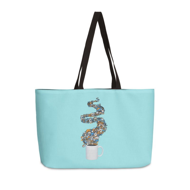 Wakey Wakey Accessories Weekender Bag Bag by wotto's Artist Shop