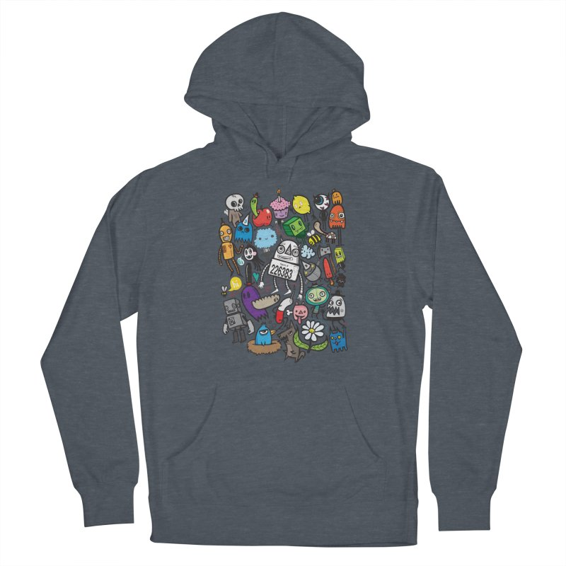 Many Colorful Friends Men's French Terry Pullover Hoody by wotto's Artist Shop