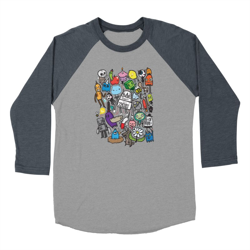 Many Colorful Friends Men's Baseball Triblend Longsleeve T-Shirt by wotto's Artist Shop