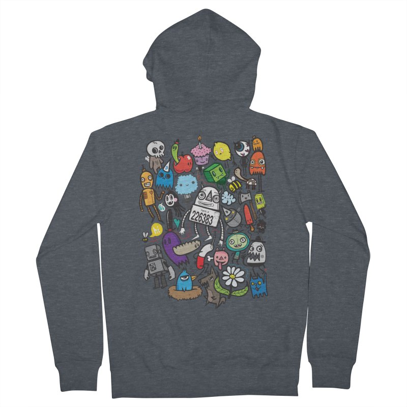 Many Colorful Friends Men's Zip-Up Hoody by wotto's Artist Shop