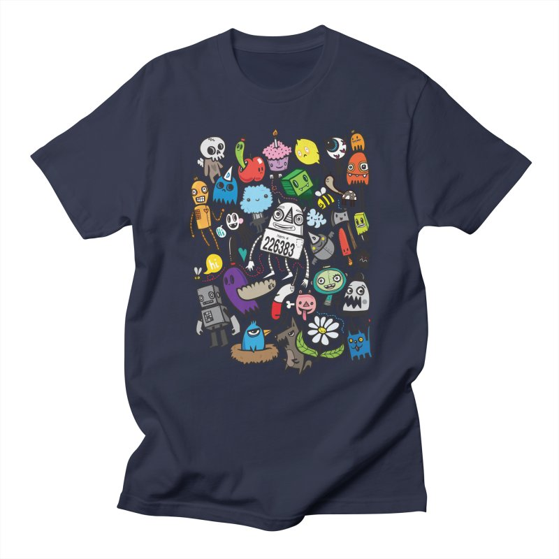 Many Colorful Friends Men's Regular T-Shirt by wotto's Artist Shop