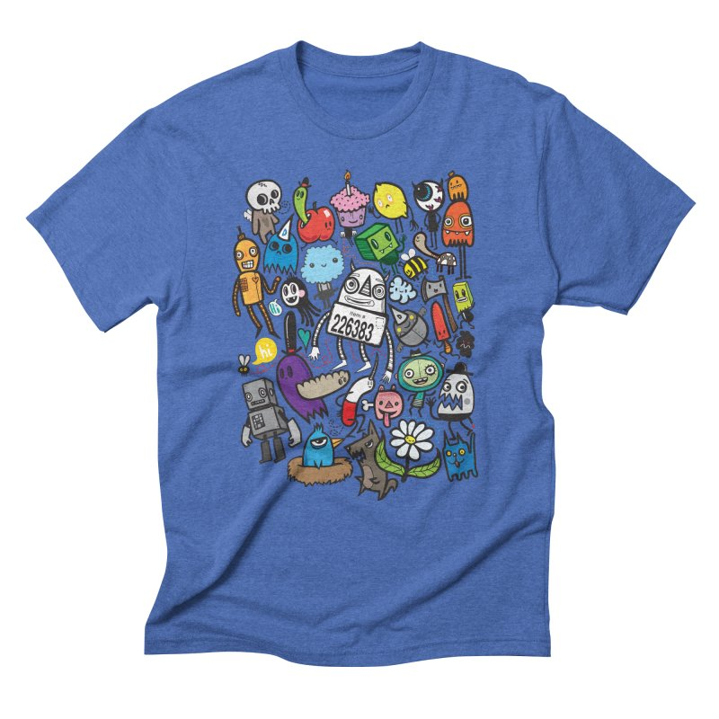Many Colorful Friends Men's T-Shirt by wotto's Artist Shop