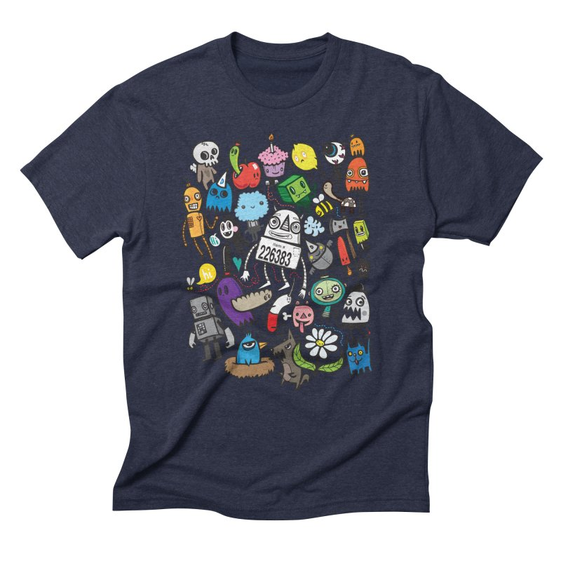 Many Colorful Friends Men's Triblend T-Shirt by wotto's Artist Shop