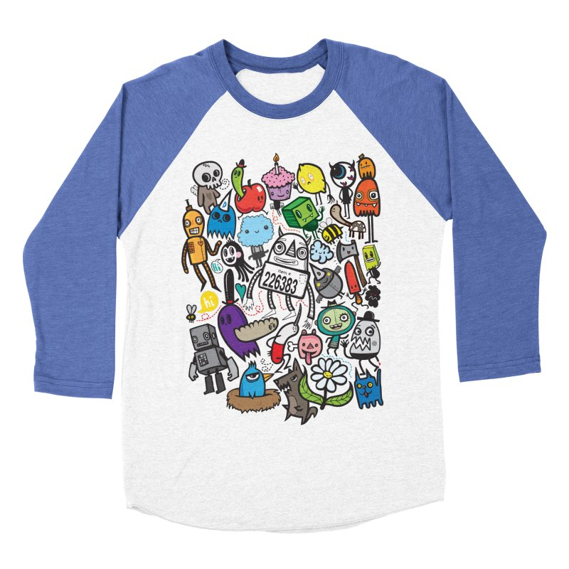 Many Colorful Friends Women's Baseball Triblend T-Shirt by wotto's Artist Shop