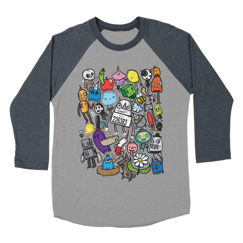 Many Colorful Friends Men's Baseball Triblend T-Shirt by wotto's Artist Shop