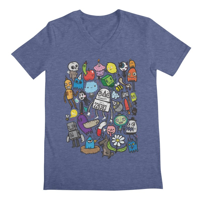 Many Colorful Friends Men's Regular V-Neck by wotto's Artist Shop