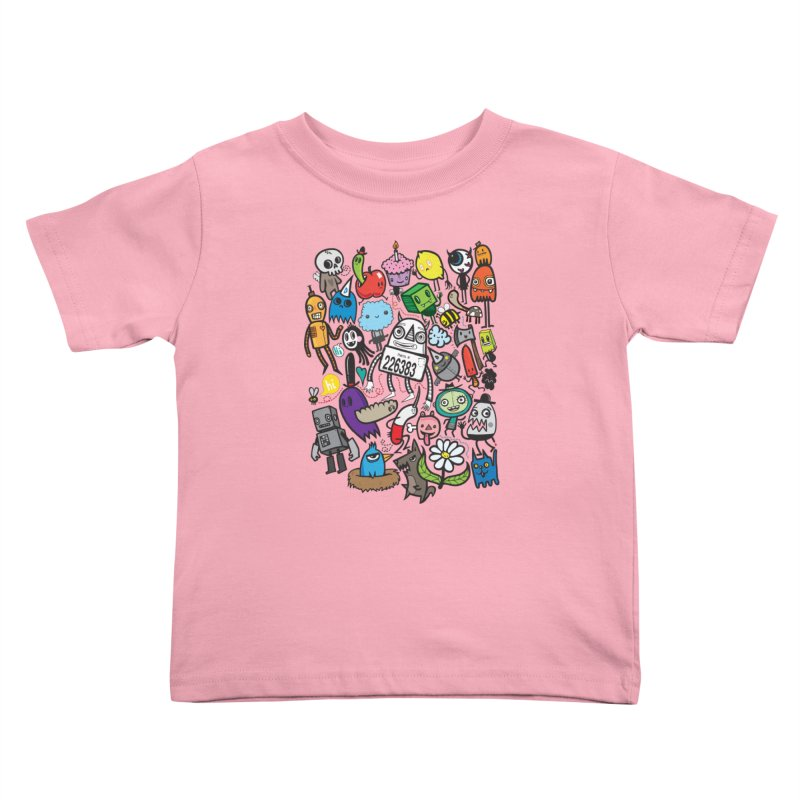 Many Colorful Friends Kids Toddler T-Shirt by wotto's Artist Shop