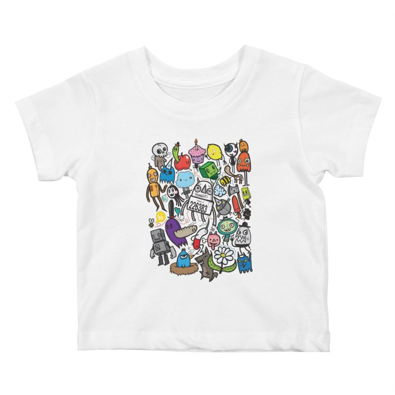 Many Colorful Friends Kids Baby T-Shirt by wotto's Artist Shop
