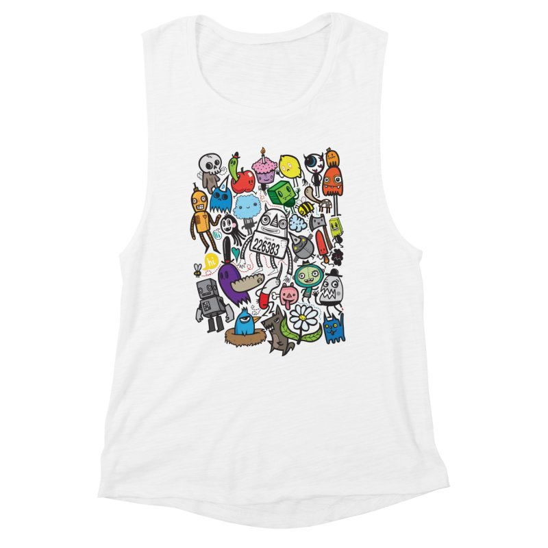 Many Colorful Friends Women's Muscle Tank by wotto's Artist Shop