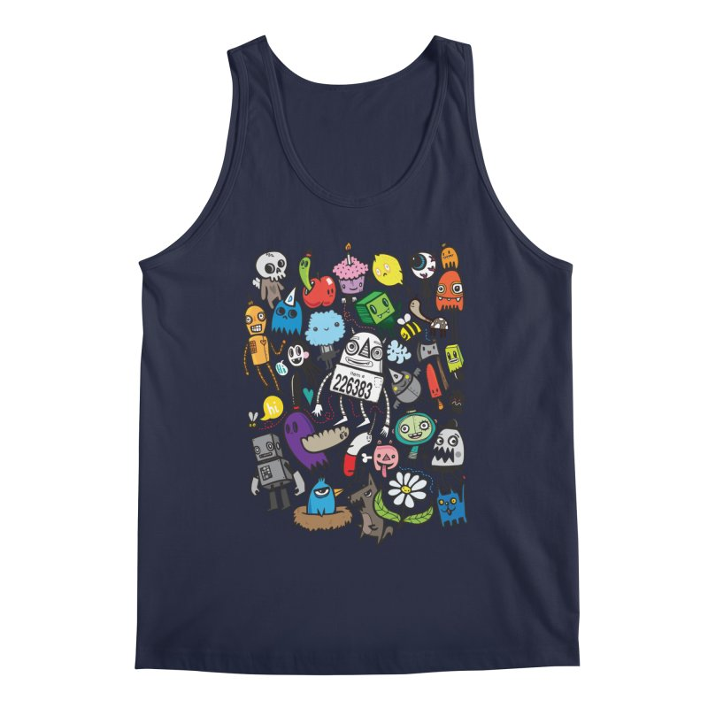 Many Colorful Friends Men's Regular Tank by wotto's Artist Shop
