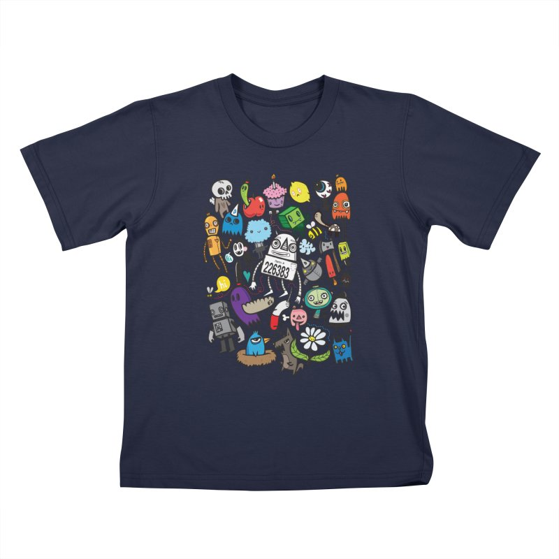 Many Colorful Friends Kids T-Shirt by wotto's Artist Shop