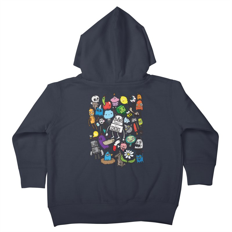 Many Colorful Friends Kids Toddler Zip-Up Hoody by wotto's Artist Shop