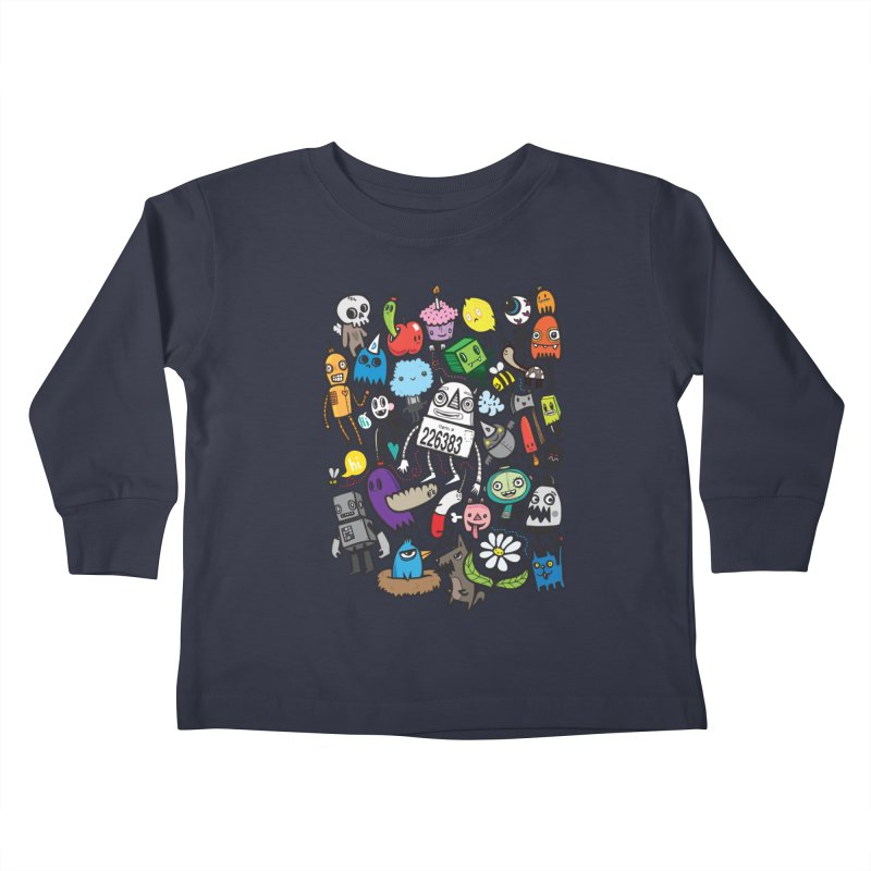 Many Colorful Friends Kids Toddler Longsleeve T-Shirt by wotto's Artist Shop