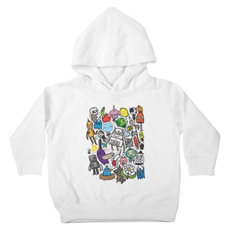 Many Colorful Friends Kids Toddler Pullover Hoody by wotto's Artist Shop