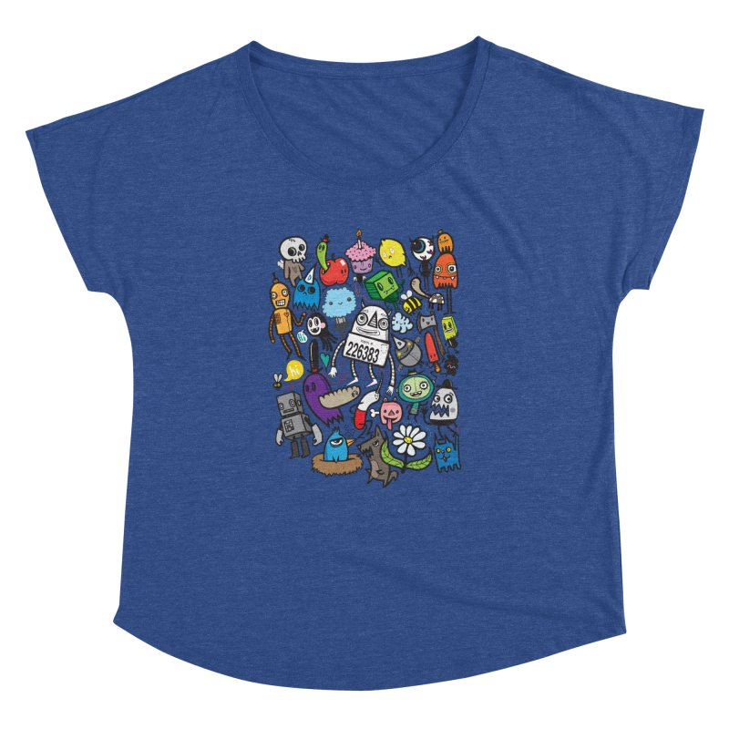 Many Colorful Friends Women's Dolman Scoop Neck by wotto's Artist Shop