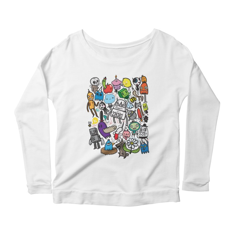 Many Colorful Friends Women's Scoop Neck Longsleeve T-Shirt by wotto's Artist Shop