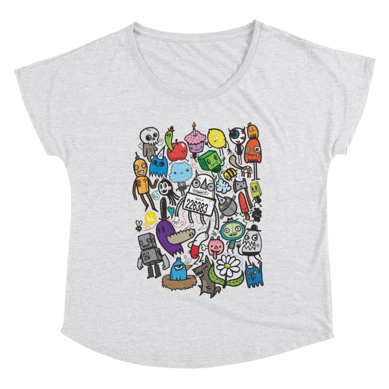 Many Colorful Friends Women's Scoop Neck by wotto's Artist Shop