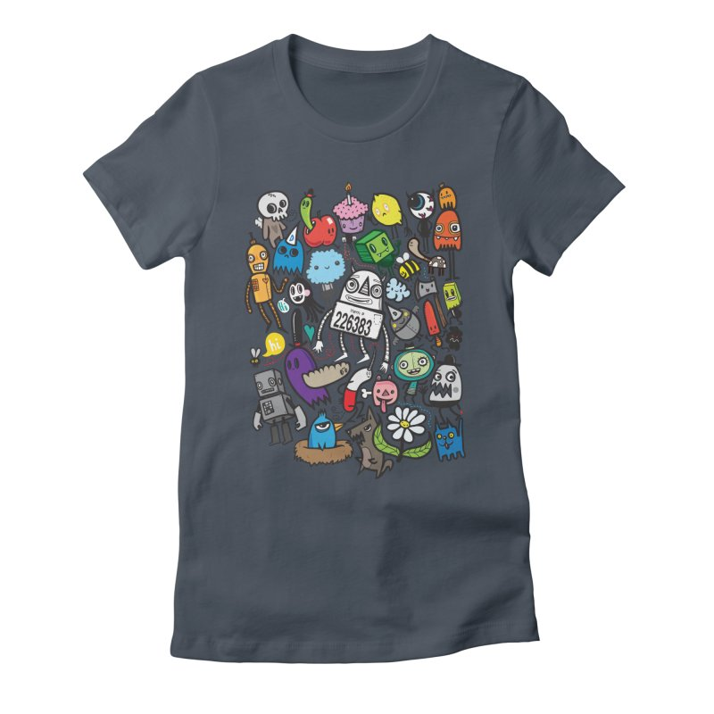 Many Colorful Friends Women's T-Shirt by wotto's Artist Shop