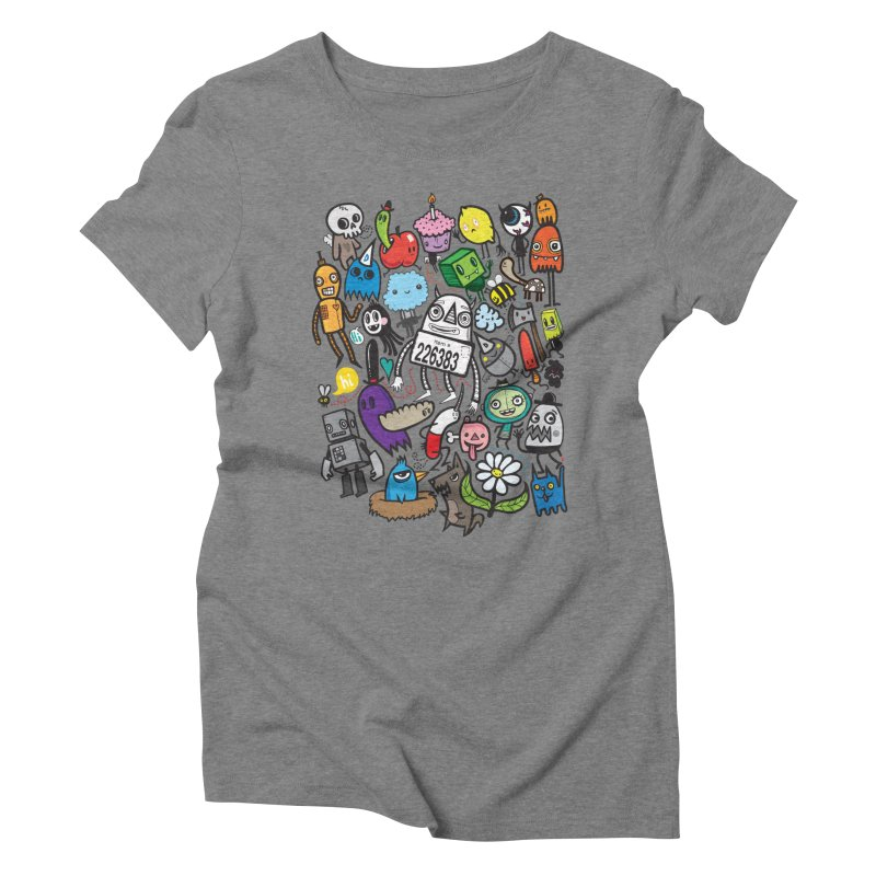 Many Colorful Friends Women's Triblend T-Shirt by wotto's Artist Shop