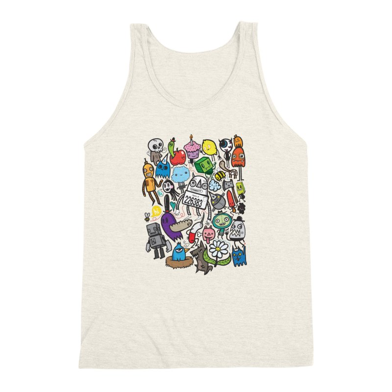 Many Colorful Friends Men's Triblend Tank by wotto's Artist Shop