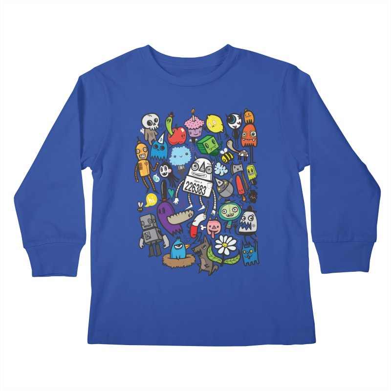 Many Colorful Friends Kids Longsleeve T-Shirt by wotto's Artist Shop