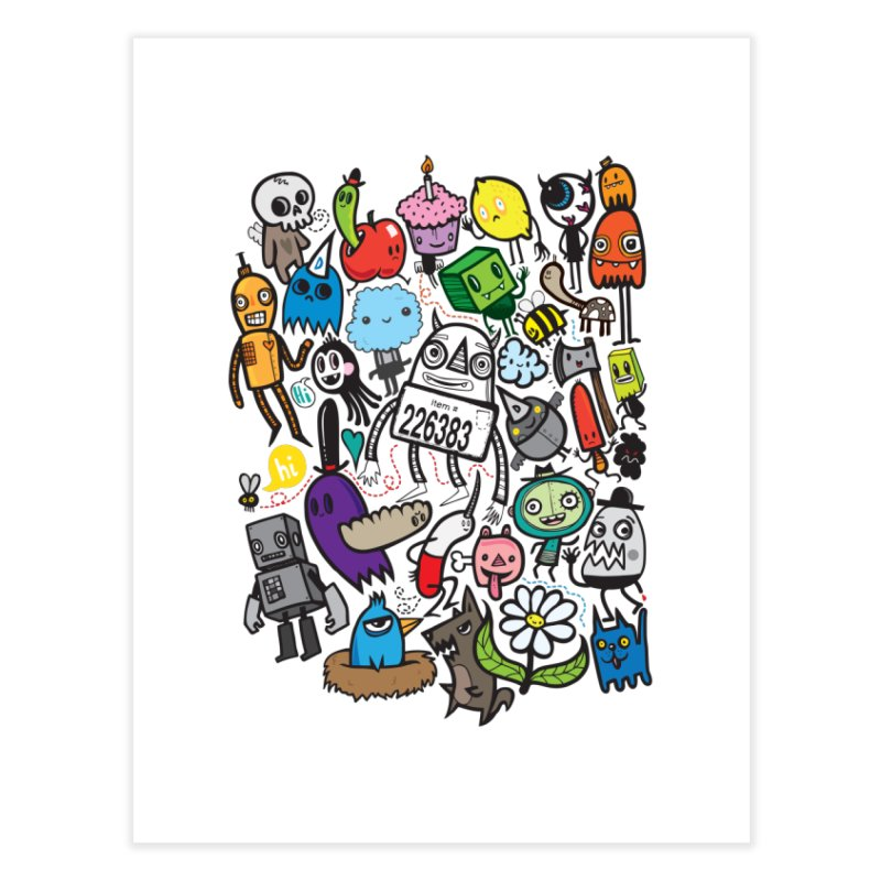 Many Colorful Friends Home Fine Art Print by wotto's Artist Shop