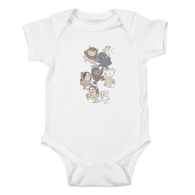 WTWTA Kids Baby Bodysuit by wotto's Artist Shop