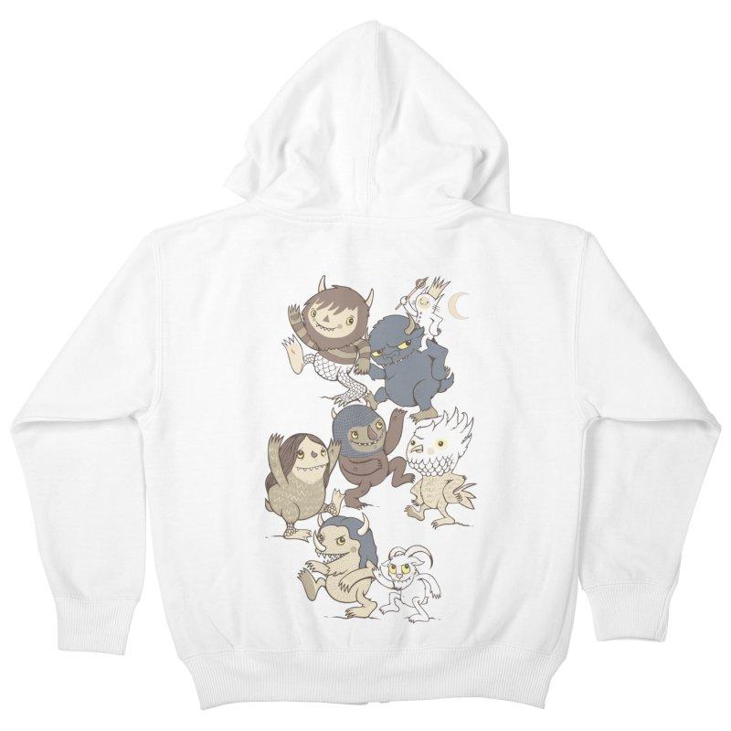 WTWTA Kids Zip-Up Hoody by wotto's Artist Shop