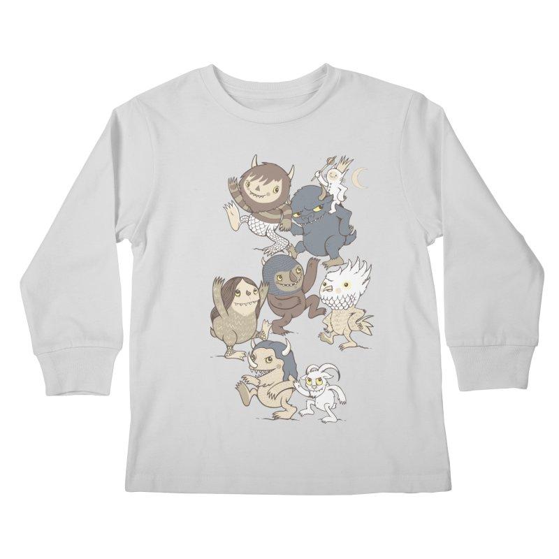 WTWTA Kids Longsleeve T-Shirt by wotto's Artist Shop