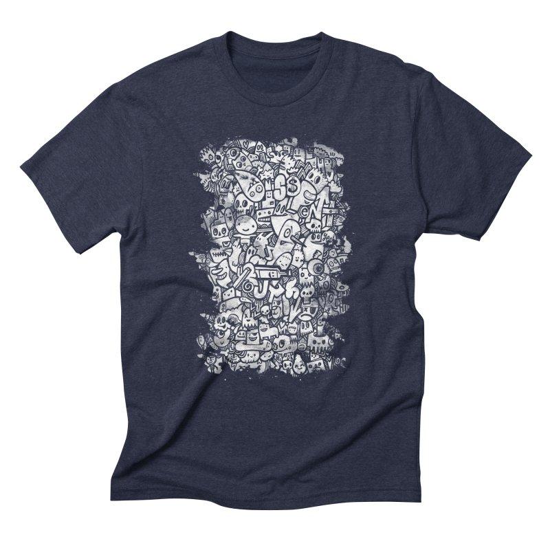Watercolor Doodles  Men's Triblend T-shirt by wotto's Artist Shop