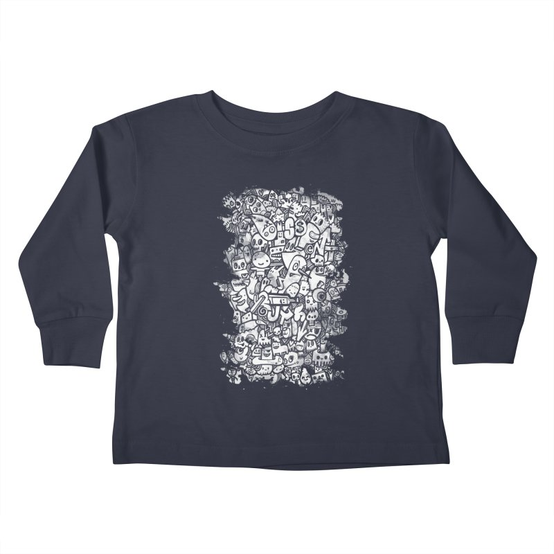 Watercolor Doodles  Kids Toddler Longsleeve T-Shirt by wotto's Artist Shop