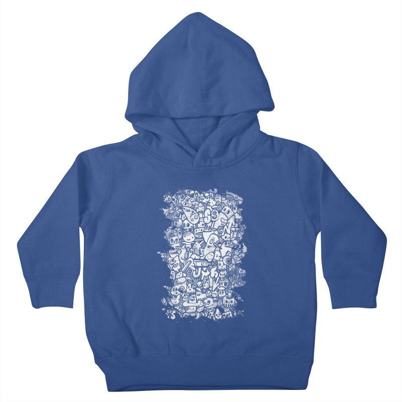 Watercolor Doodles  Kids Toddler Pullover Hoody by wotto's Artist Shop