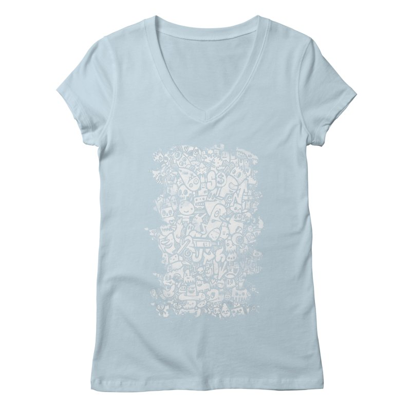 Watercolor Doodles  Women's V-Neck by wotto's Artist Shop