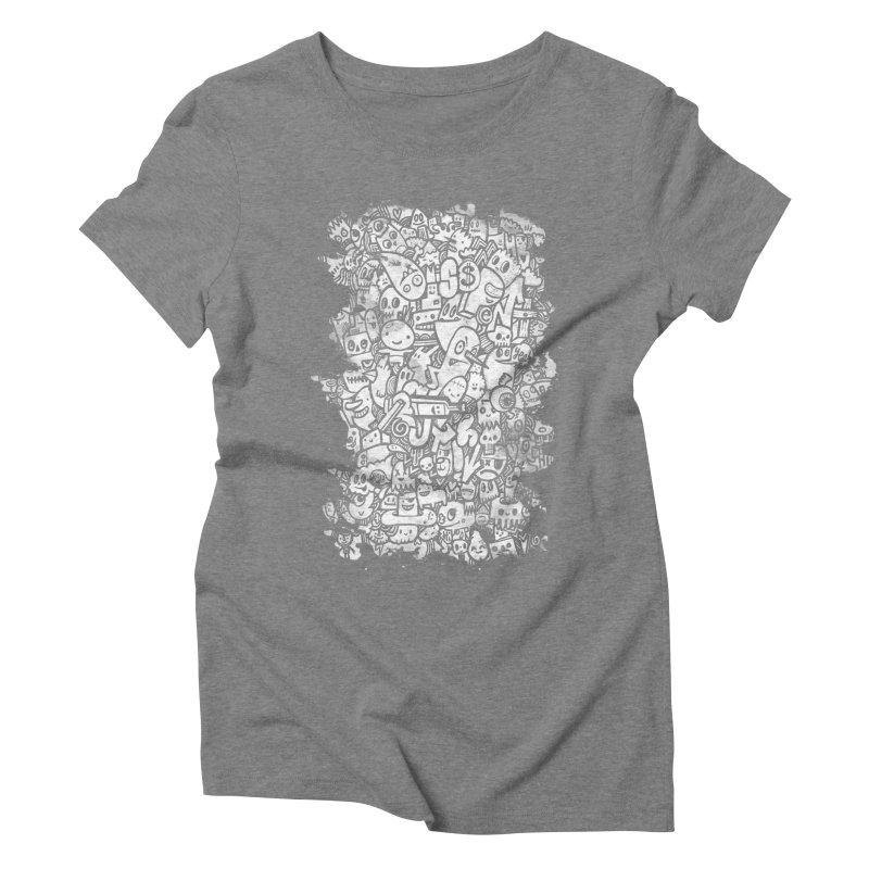Watercolor Doodles Women's Triblend T-Shirt by wotto's Artist Shop