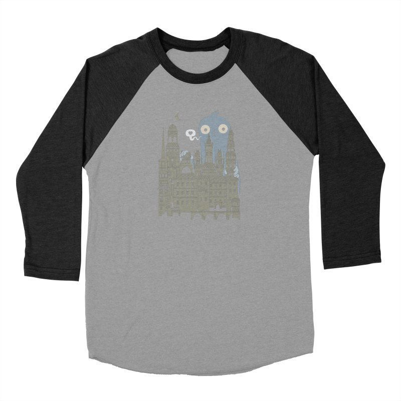 Ghost Town Men's Baseball Triblend Longsleeve T-Shirt by wotto's Artist Shop