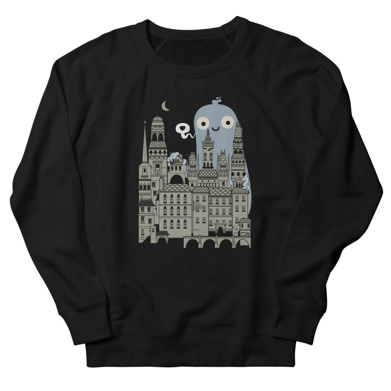 Ghost Town Men's French Terry Sweatshirt by wotto's Artist Shop