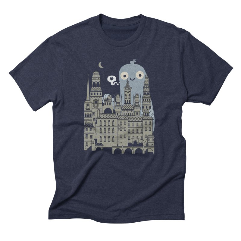 Ghost Town Men's Triblend T-Shirt by wotto's Artist Shop