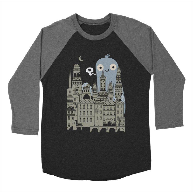 Ghost Town Men's Baseball Triblend T-Shirt by wotto's Artist Shop