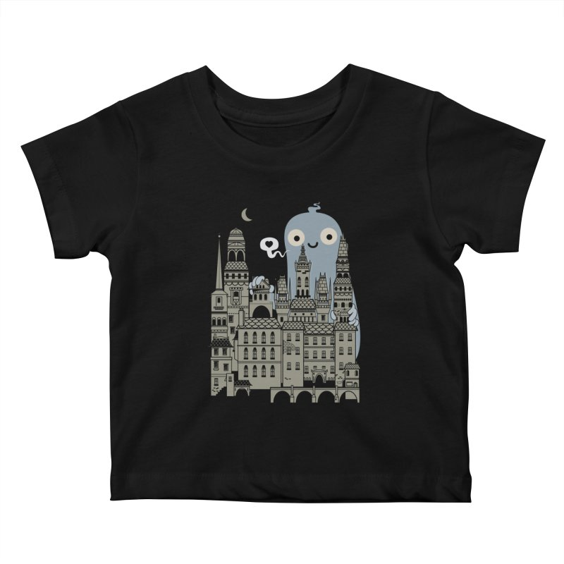Ghost Town Kids Baby T-Shirt by wotto's Artist Shop